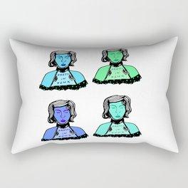 4 Blue Punks Rectangular Pillow