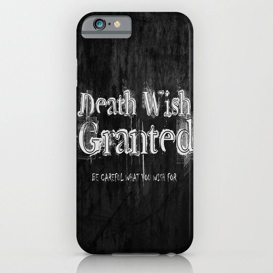Death Wish Granted. iPhone & iPod Case