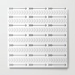 Shoot Straight (B&W) Metal Print