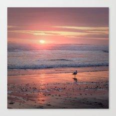 Sunset at Cannon Beach Oregon Canvas Print