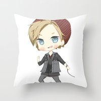 infamous Throw Pillows featuring Pewdiepie Infamous: Second Son by PumpkinElite