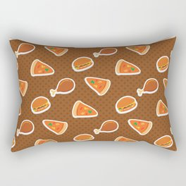 Pizza Burgers and Fried Chicken Picnic Time Rectangular Pillow