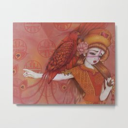 Huo: Vermillion Bird Metal Print
