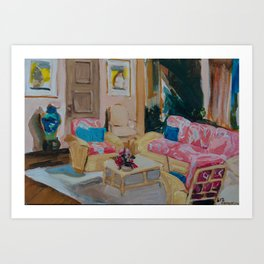 Golden Girls living room Art Print