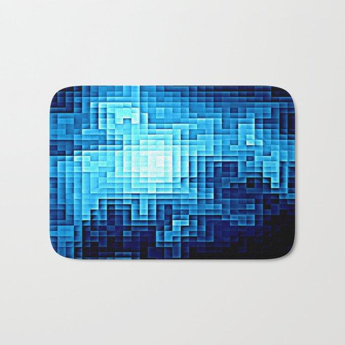 Nebula Pixel Blue Bath Mat