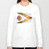 british Long Sleeve T-shirts featuring British by ilustrarte