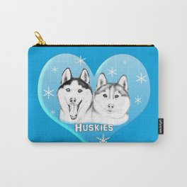 Blue Huskies Carry-All Pouch