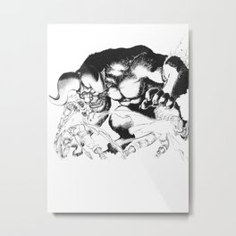 Guts & Griffith vs Zodd Metal Print
