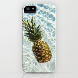 Floating on Cool Sunny Water Pineapple Fruit Summer Happiness Pop Art Modern Chic Home Decor Gallery iPhone Case