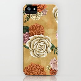Gold luxury floral iPhone Case