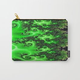 Green Lace Carry-All Pouch