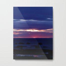 Purple Glow at Sunset Metal Print