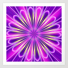 Abstract floral purple 04 Art Print
