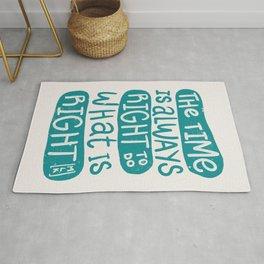 Equality - Aqua Typography Rug
