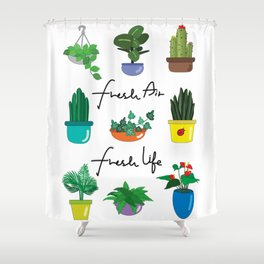 Fresh air fresh life Shower Curtain