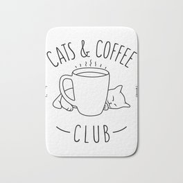 Cats and Coffee club Bath Mat