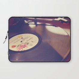 Purple Rain Vinyl Record Photograph Laptop Sleeve