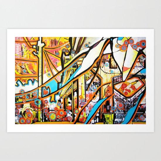 Ballard Bridge Art Print