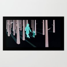 we're not out of the woods yet... Art Print