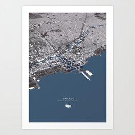Chicago City Map II Art Print