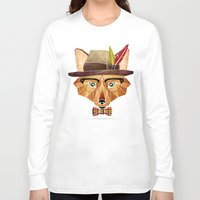 mr fox Long Sleeve T-shirts featuring mr. fox by Manoou