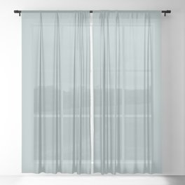 PPG Glidden Accent Color to Night Watch Blue Willow Green PPG1145-4 Solid Color Sheer Curtain