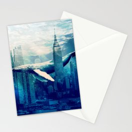 Blue Whale in NYC Stationery Cards