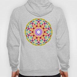 bright fractal mandala Hoody