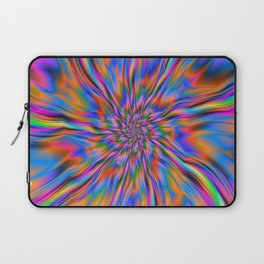 Combustion of Blue Pink and Orange Laptop Sleeve
