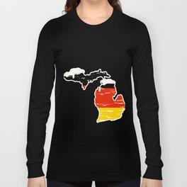 Drinking Beer Michigan Prost German Oktoberfest Long Sleeve T-shirt