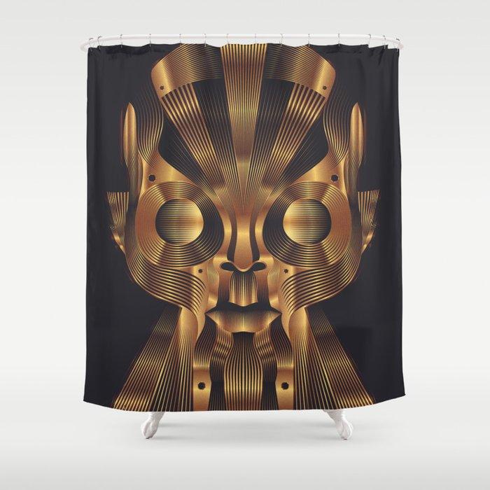 Art Robot Shower Curtain By Patrickseymour