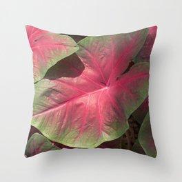 Pink Veins Throw Pillow