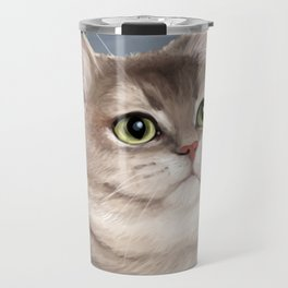 Heavy Breathing Cat--Fine Art Edition Travel Mug