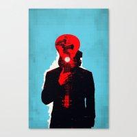 eddie vedder Canvas Prints featuring Eddie Vedder by Alec Goss