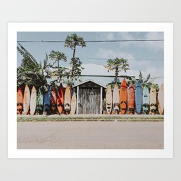 lets surf vi / summer surfboards in maui, hawaii Art Print