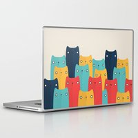 cats Laptop & iPad Skins featuring Cats by Volkan Dalyan