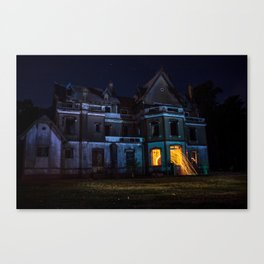 Castle on fire Canvas Print
