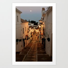 Twilight in Mijas Art Print
