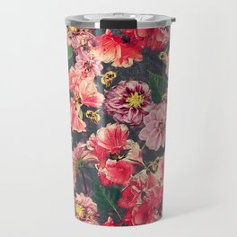 Vintage Flowers and Bees Travel Mug