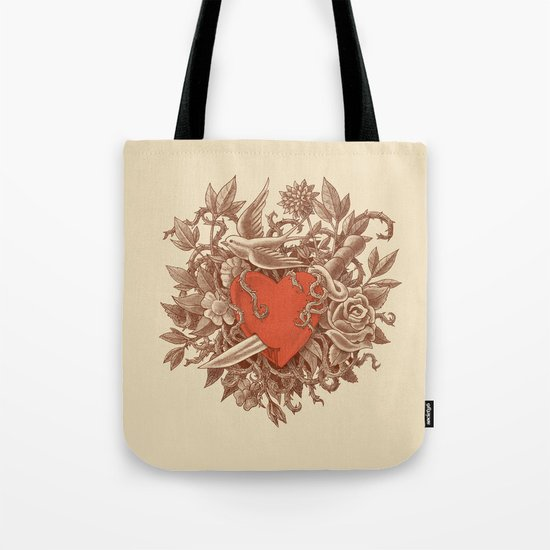 Heart of Thorns  Tote Bag