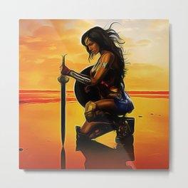 Gal Gadot - Celebrity - Paint Art Metal Print
