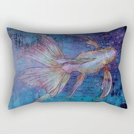 Indigo Goldfish Rectangular Pillow