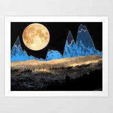 Macaroni Moon Art Print