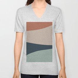 Cascade Color Block Unisex V-Neck
