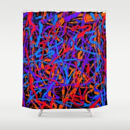 decaying growth Shower Curtain