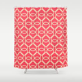 Custom Bright Geographic Circle Pattern Shower Curtain