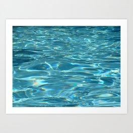 Blue Water - Pool - Beach - Ocean  Kunstdrucke
