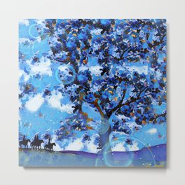 Plum Tree Hills Metal Print