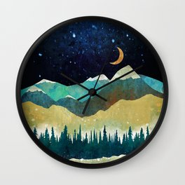 Snowy Night Wall Clock