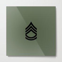 Sergeant First Class (Green) Metal Print
